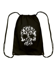 Mermaid skull Drawstring Bag thumbnail
