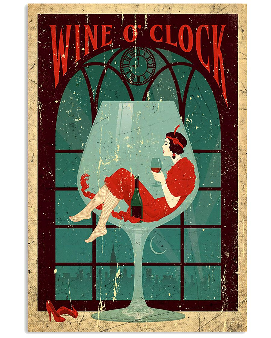 Wine O'clock Deco Art Poster 11x17 Poster