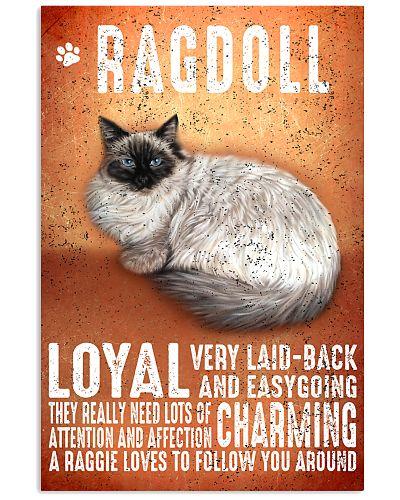 Ragdoll Cat Vintage Poster