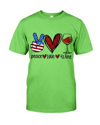 Wine Peace Love Twinkle