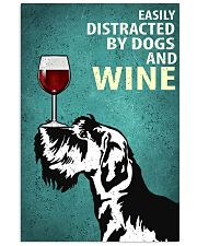 Schnauzer Dog And Wine Vintage Poster 11x17 Poster front