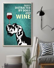 Schnauzer Dog And Wine Vintage Poster 11x17 Poster lifestyle-poster-1