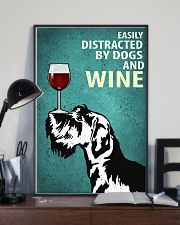 Schnauzer Dog And Wine Vintage Poster 11x17 Poster lifestyle-poster-2