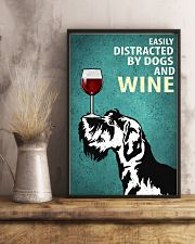 Schnauzer Dog And Wine Vintage Poster 11x17 Poster lifestyle-poster-3