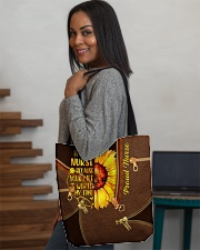 NURSE BEAUTY TOTE BAG SUNFLOWER I BECAME A NURSE All-over Tote aos-all-over-tote-lifestyle-front-08