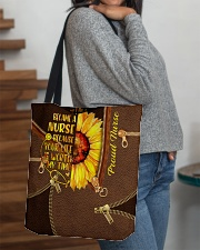 NURSE BEAUTY TOTE BAG SUNFLOWER I BECAME A NURSE All-over Tote aos-all-over-tote-lifestyle-front-09