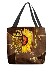 NURSE BEAUTY TOTE BAG SUNFLOWER I BECAME A NURSE All-over Tote front