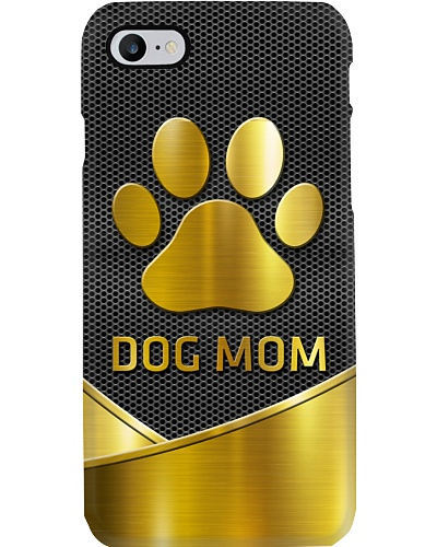 Dog Mom Gold Fire Horse Phonecase