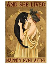 Cat And She Lived Happily France Art 11x17 Poster front