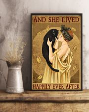 Cat And She Lived Happily France Art 11x17 Poster lifestyle-poster-3