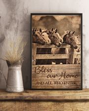 Horse Bless Our Home 11x17 Poster lifestyle-poster-3