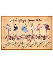 Dancing God Says You Are Beautiful Dancing Girl 17x11 Poster front