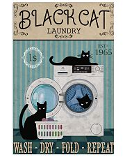 CAT BLACK CAT LAUNDRY WASH DRY FOLD 11x17 Poster front