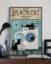 CAT BLACK CAT LAUNDRY WASH DRY FOLD 11x17 Poster lifestyle-poster-2