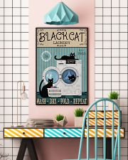 CAT BLACK CAT LAUNDRY WASH DRY FOLD 11x17 Poster lifestyle-poster-6