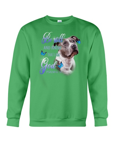 Grey Pit Bull Be Still And Know That I Am God