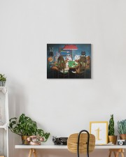 Grumpy Cats Playing Pokers 14x11 Gallery Wrapped Canvas Prints aos-canvas-pgw-14x11-lifestyle-front-03
