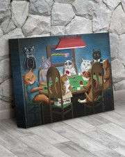 Grumpy Cats Playing Pokers 14x11 Gallery Wrapped Canvas Prints aos-canvas-pgw-14x11-lifestyle-front-13