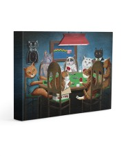 Grumpy Cats Playing Pokers 14x11 Gallery Wrapped Canvas Prints front
