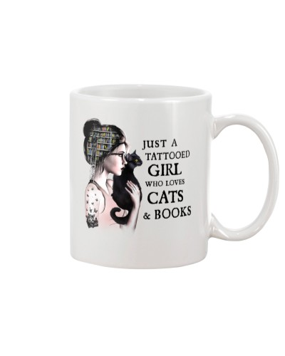 Book Just A Tattooed Girl Who Loves Cat And Books