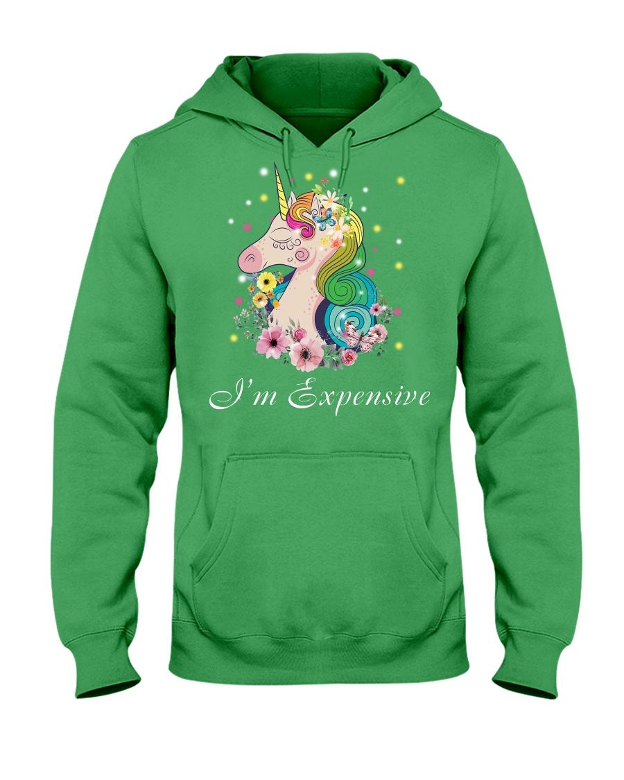 Unicorn I Am Expensive Hooded Sweatshirt