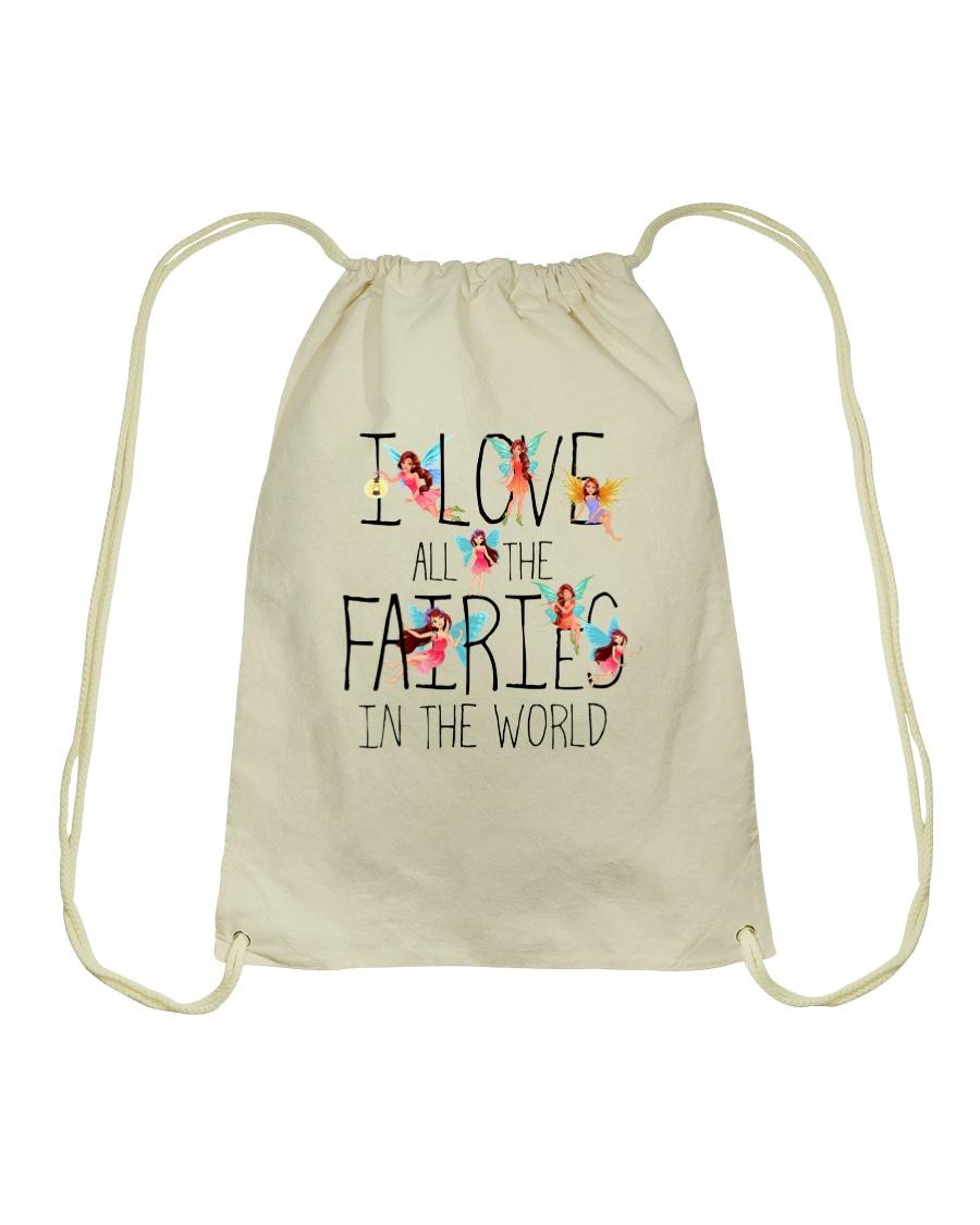 I Love All The Fairies In The World Drawstring Bag showcase