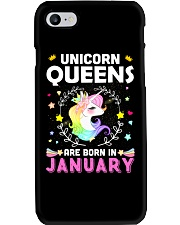 Unicorn Queens Are Born In January  Phone Case thumbnail