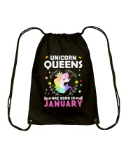 Unicorn Queens Are Born In January  Drawstring Bag thumbnail