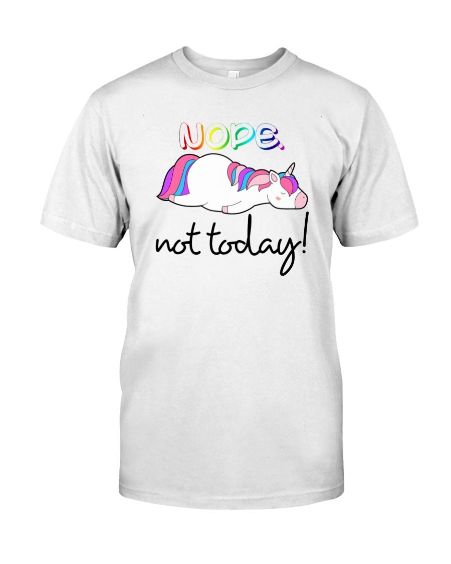 Unicorn Nope Not Today Classic T-Shirt
