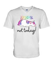 Unicorn Nope Not Today V-Neck T-Shirt thumbnail