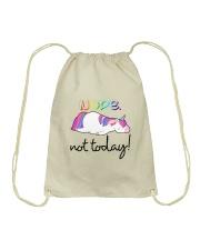 Unicorn Nope Not Today Drawstring Bag thumbnail