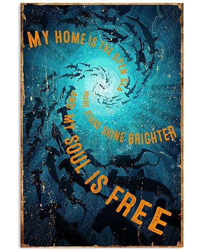Scuba Diving Retro Poster 2