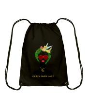 Crazy Fairy Lady Drawstring Bag thumbnail