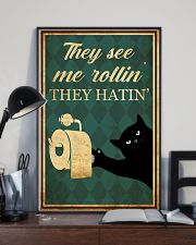 Cat They See Me Rolling 11x17 Poster lifestyle-poster-2