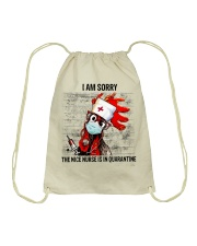 Sorry Nice Nurse Not Here Drawstring Bag thumbnail