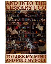 BOOK INTO THE LIBRARY I GO 11x17 Poster front