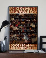 BOOK INTO THE LIBRARY I GO 11x17 Poster lifestyle-poster-2