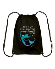 Mermaid - This is my human costume Drawstring Bag tile