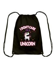 I DON'T CARE - I'M A UNICORN Drawstring Bag thumbnail
