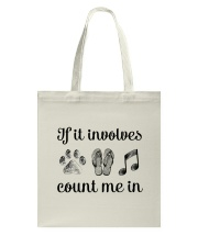 Dog Flipflops And Music Tote Bag thumbnail