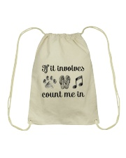 Dog Flipflops And Music Drawstring Bag thumbnail