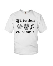 Dog Flipflops And Music Youth T-Shirt thumbnail
