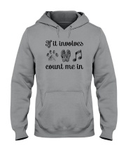 Dog Flipflops And Music Hooded Sweatshirt thumbnail