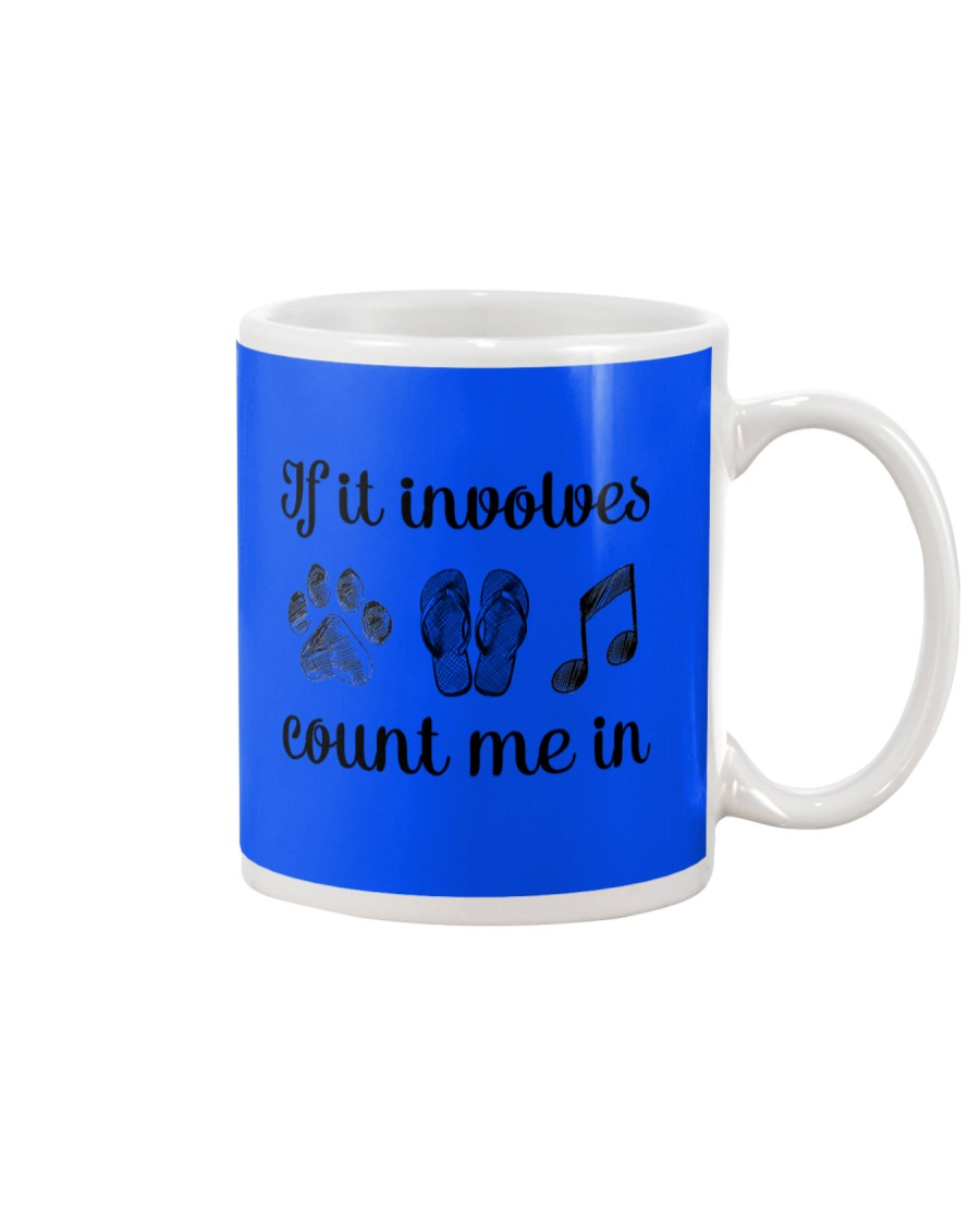 Dog Flipflops And Music Mug