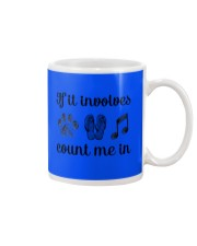 Dog Flipflops And Music Mug front