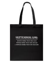 September Girl Tote Bag thumbnail