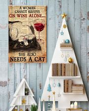 CAT PRETTY A WOMAN CANNOT SURVIVE ON WINE ALONE 11x17 Poster lifestyle-holiday-poster-2