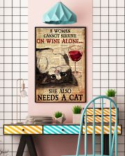 CAT PRETTY A WOMAN CANNOT SURVIVE ON WINE ALONE 11x17 Poster lifestyle-poster-6