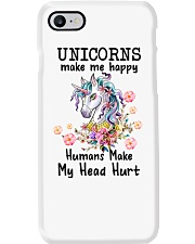 Unicorns Make Me Happy  Phone Case thumbnail