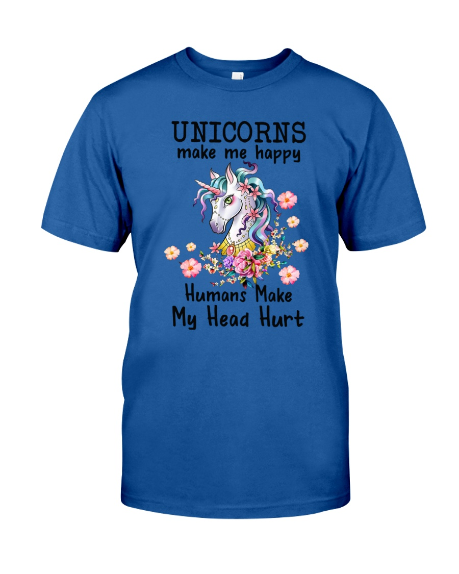 Unicorns Make Me Happy  Classic T-Shirt